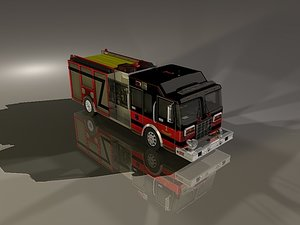3d engine truck model