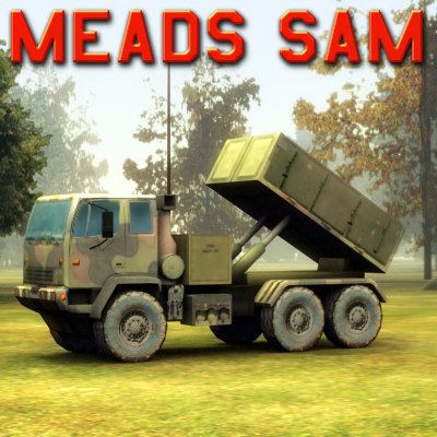 obj meads sam vehicle missile