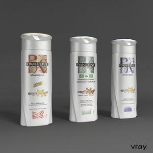 3ds max pantene shampoo bottle
