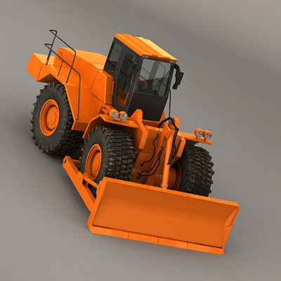 3d wheeldozer wheel dozer