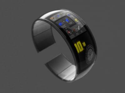 futuristic watch video 3d model