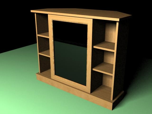 3d model tv cabinet polly