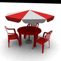 table chair 3ds
