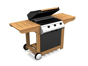3d model of gas bbq barbeque