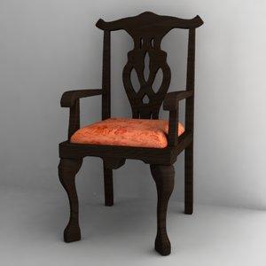 antique chair 3ds