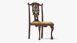 antique chair 3d model