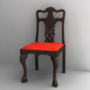 antique chair 3d 3ds