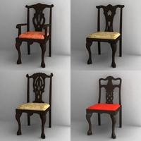 3d antique chair model