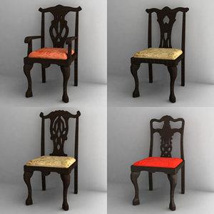 3d antique chair model
