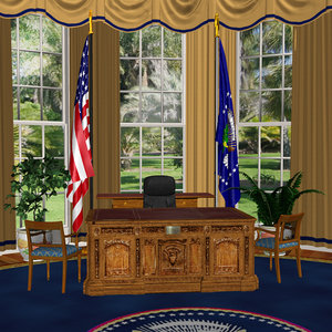 3d model oval office