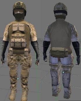 maya soldier character