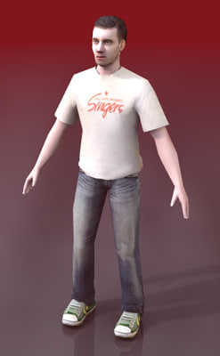 3d male human characters