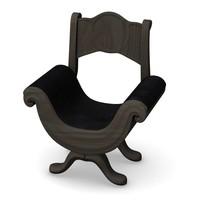 3dsmax gothic chair
