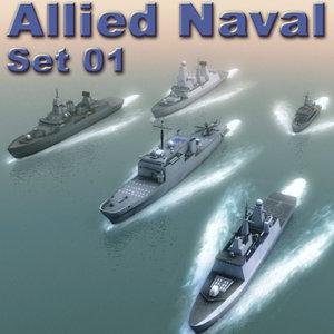 nato ships frigate navy 3d model