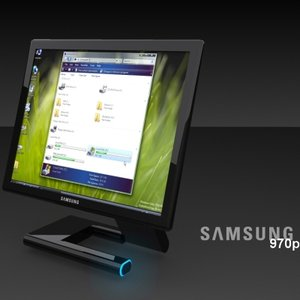 samsung 970p monitor 3d model