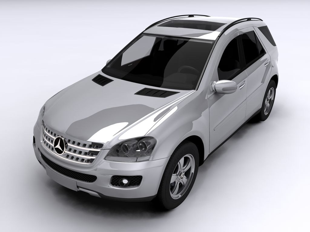 3ds max ml class mercedes benz
