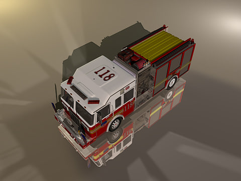 3d c4d new york fdny engine