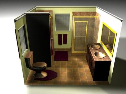 complete toilet room c4d