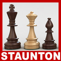 max staunton chess pieces set