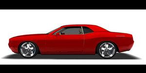 3d challenger rt car model