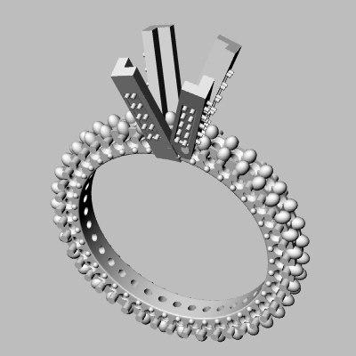 3d wedding band jewel