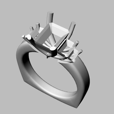 wedding band 3d 3dm