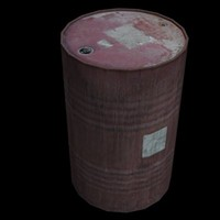 Oil Drum Low Poly