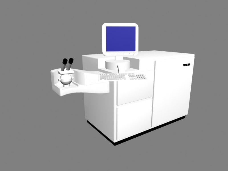 3d model excimer laser machine