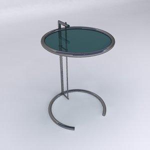 3d eileen gray end table model