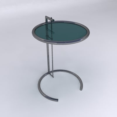3d eileen gray end table model