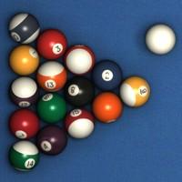 3d model pool ball set