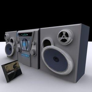 3d boombox cd
