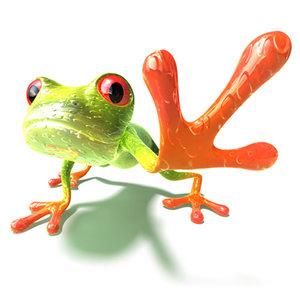 lightwave green frog
