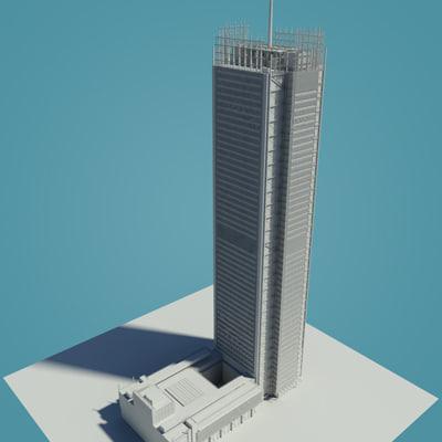 3d model new york tower building