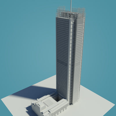 3d model new york tower building