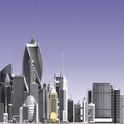 3d skyscraper buildings