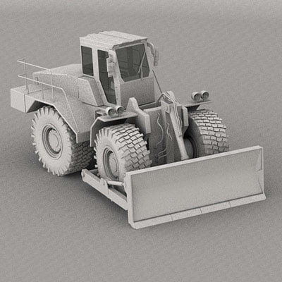 3d wheeldozer wheel dozer