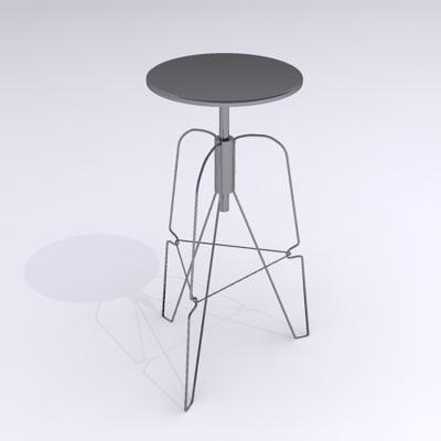 3d jeff stool