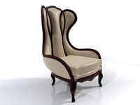Classic  Living Chair 3D Model