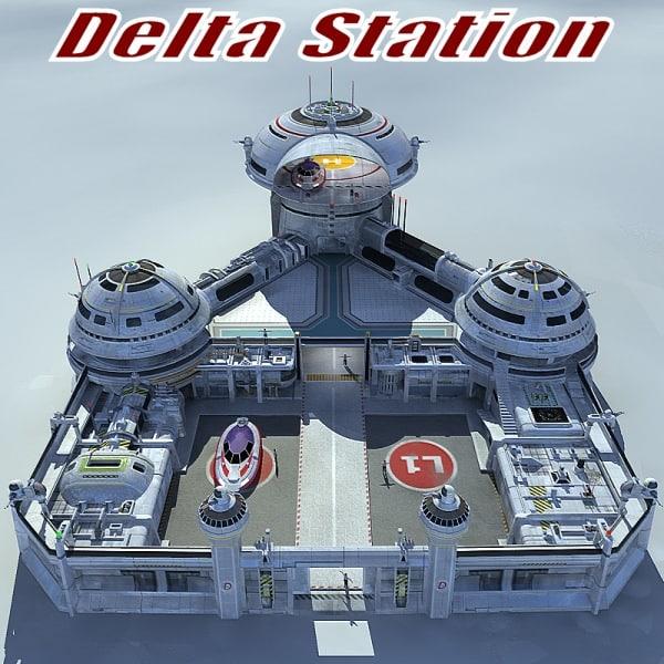 3d model station base