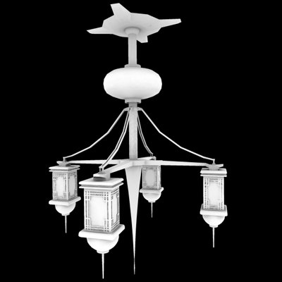 3d chinese lamps light