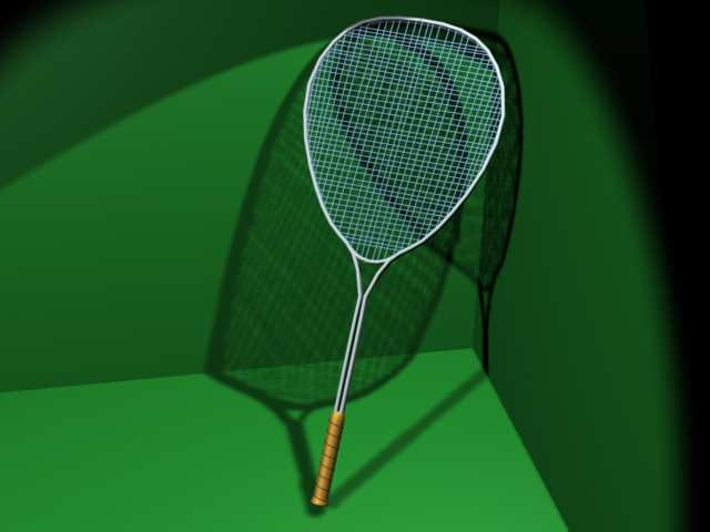 3d tennis roquet