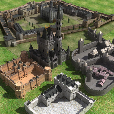 3dsmax castles