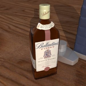 3d ballantines bottle model