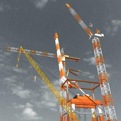 3ds max industrial factory 02 crane