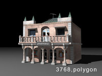 3d model house pharmacy