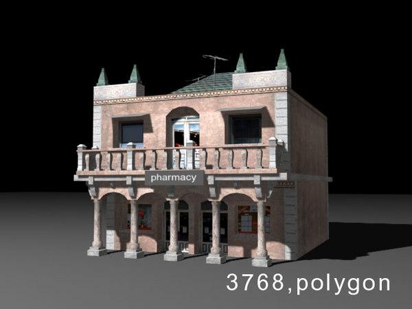 3d model house pharmacy