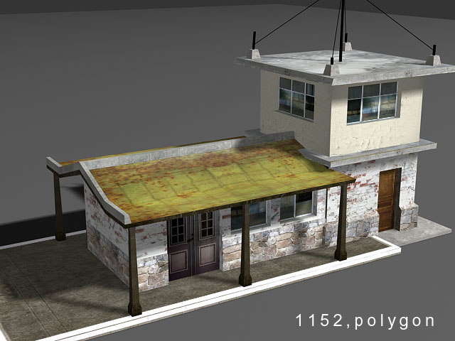 house station 3d model