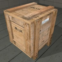 Wooden Crate Cargo Box