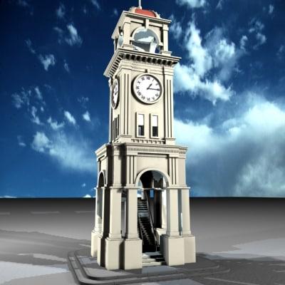 clock tower 3d model